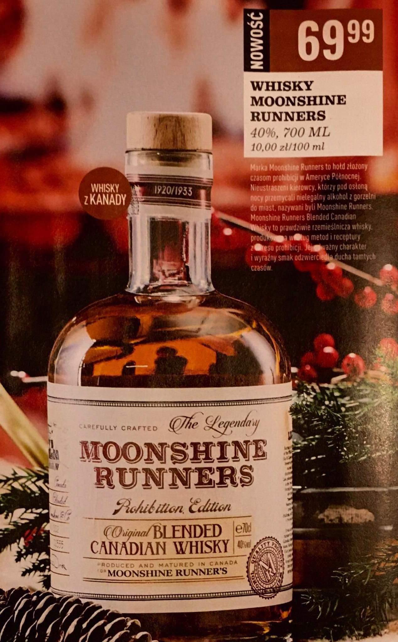 Whisky Moonshine Runners Canadian 0,7 Biedronka