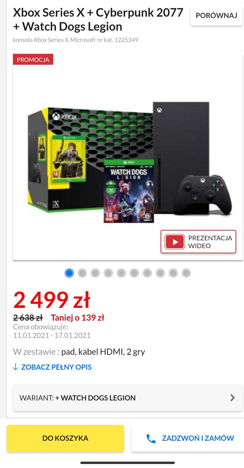 Xbox Series X + Cyberpunk 2077 + Watch Dogs Legion