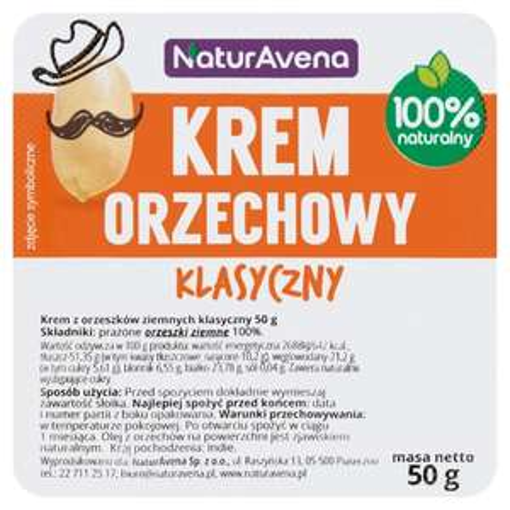 Masło orzechowe NaturAvena 3,80zł/kg Leclerc Warszawa Ursynów