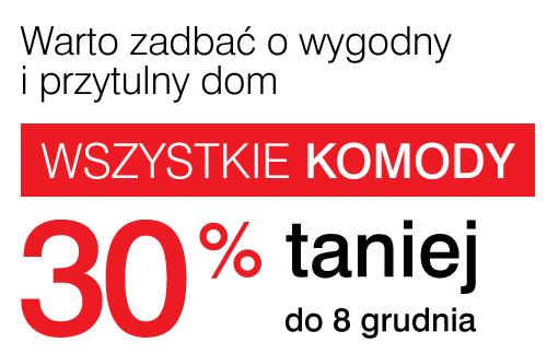 Rabat 30% na wszystkie komody @ Black Red White