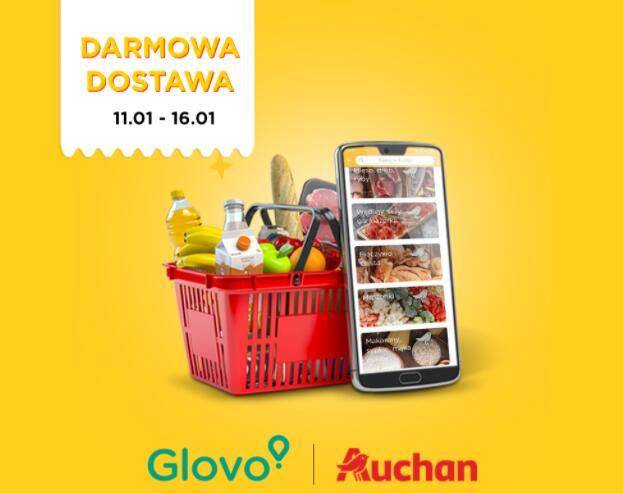 Glovo Darmowa dostawa z Auchan bez MWZ