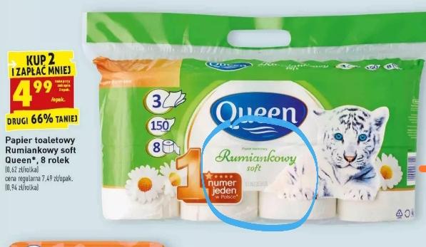 Papier toaletowy Queen rumiankowy przy zakupie 2 opakowań @Biedronka