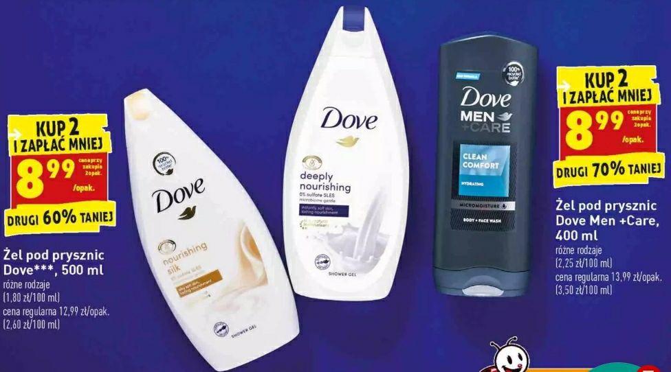 Żel pod prysznic Dove Men +Care 400 ml (przy zakupie 2 szt)