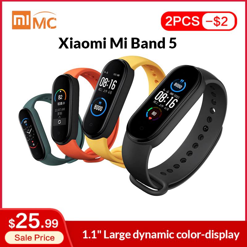 Xiaomi Mi Band 5 + ochrona ekranu - $27.99 i wysyłka z Polski
