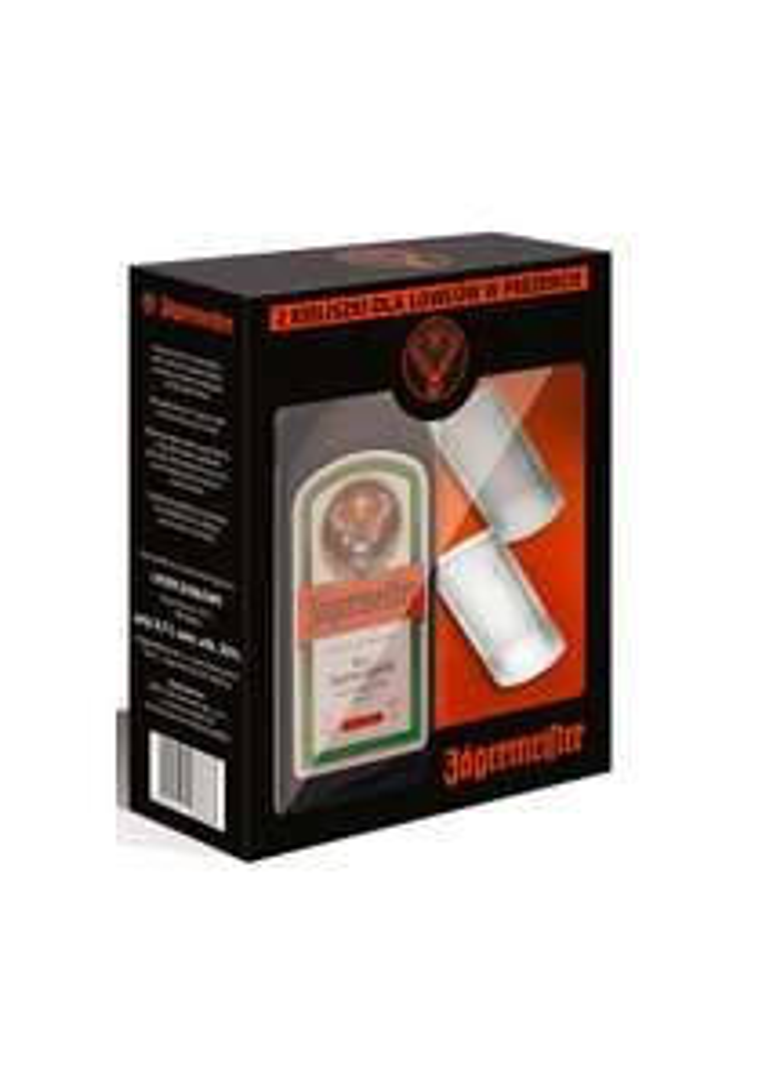 Jägermeister 0,7l + 2 Duże kieliszki z miarką - Auchan