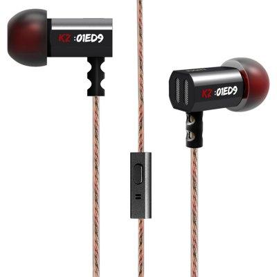 Słuchawki z superbassem firmy KZ ED9 z zestawem gumek dla każdego rozmiaru @Gearbest