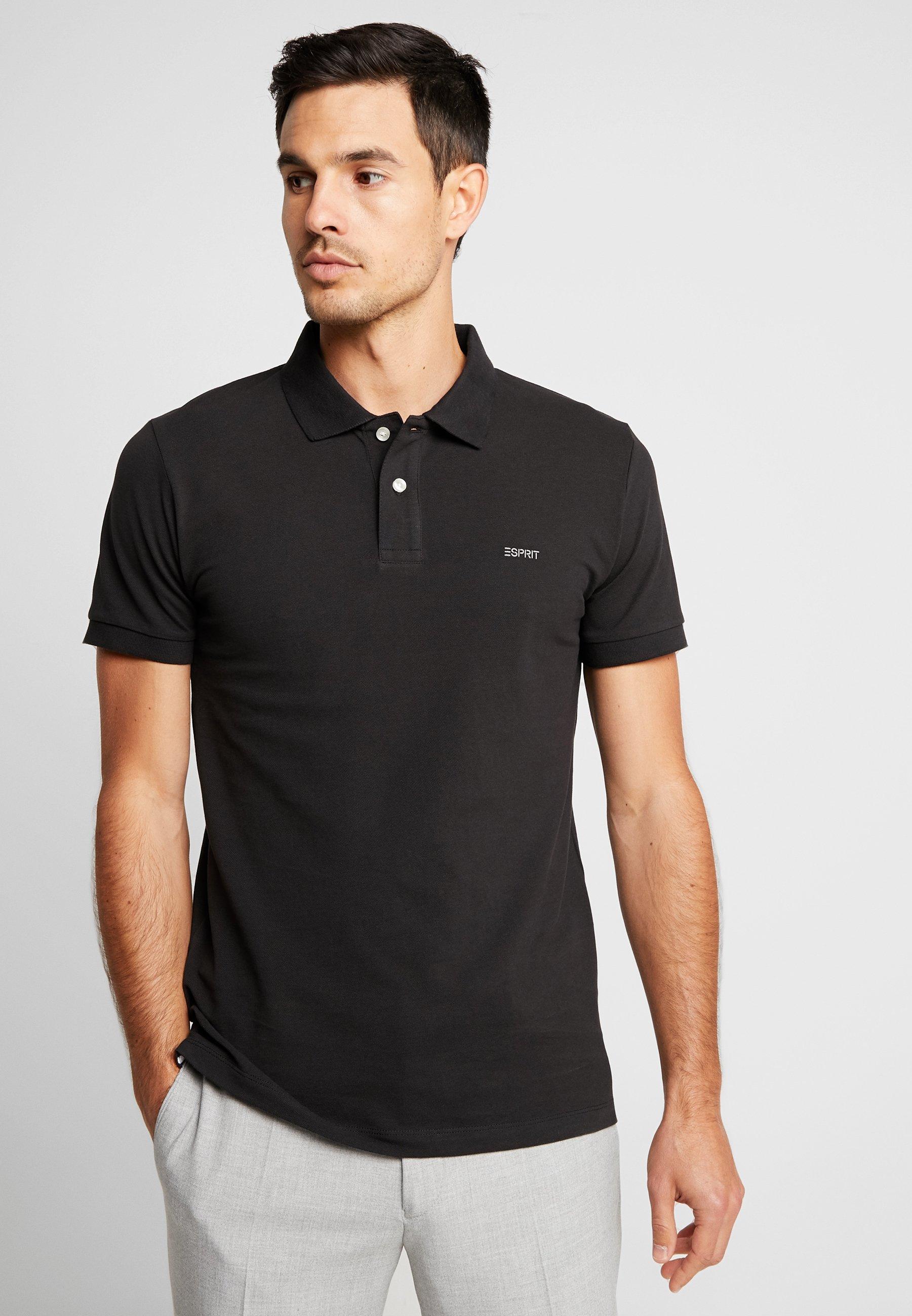 Koszulka polo ESPRIT Czarna i inne kolory S-XXL 100% bawełna ZALANDO