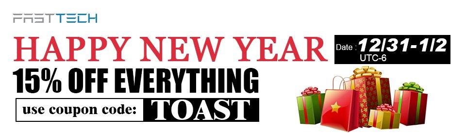 FastTech: -15% na wszystko z okazji nowego roku