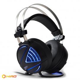 Słuchawki gamingowe HIRO Zeus 7.1 (czarne) z mikrofonem, podświetlenie LED