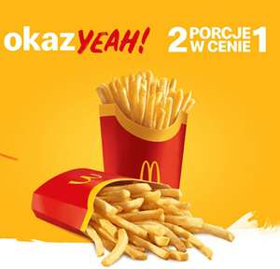 2x duże frytki w cenie 1 ( w Katowicach)