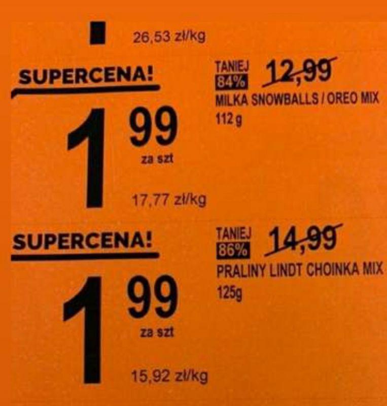 Biedronka, choinki Lindt 1,99zl! Wyprzedaż słodyczy świątecznych od 0,99zl!