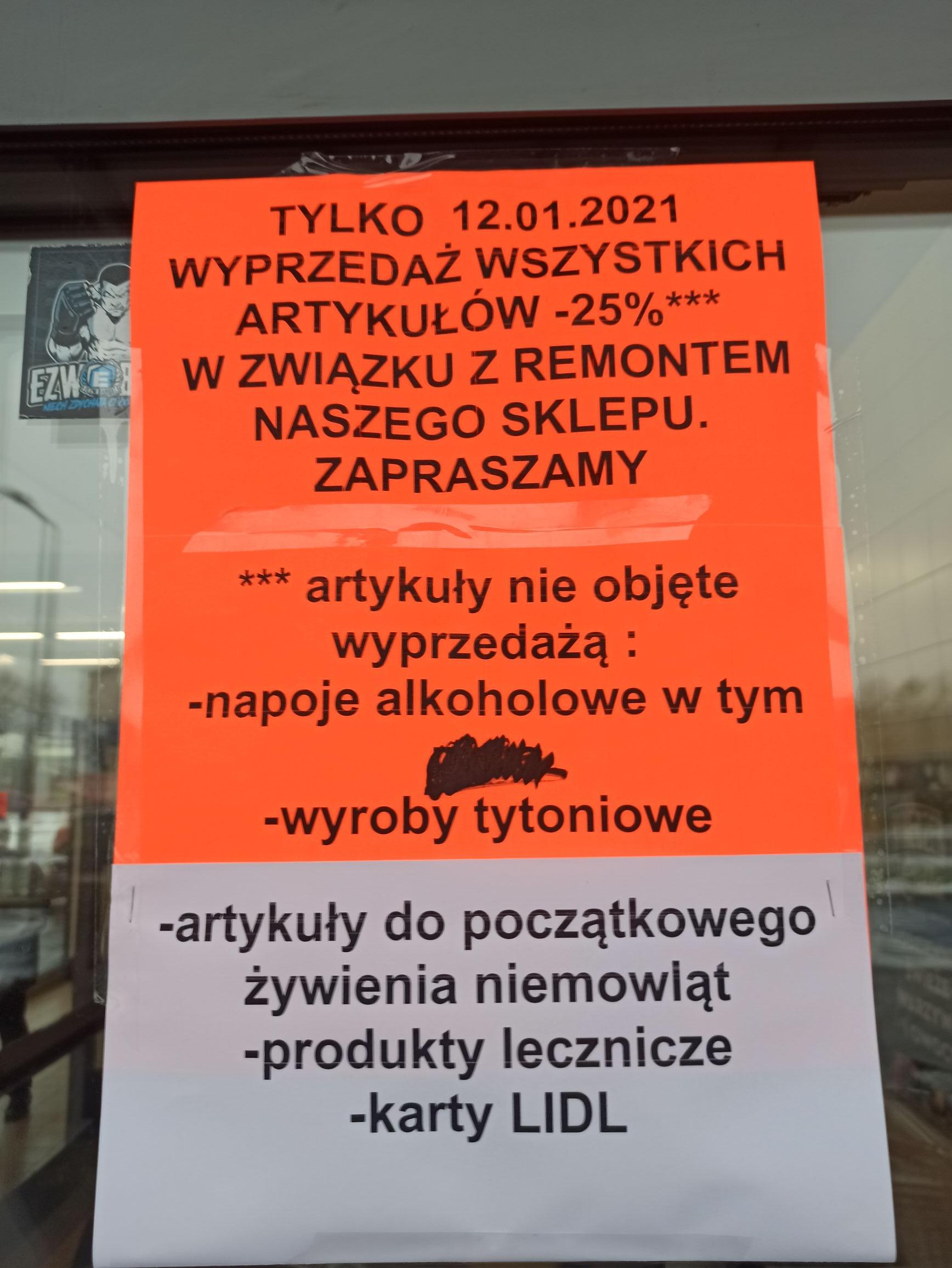 Toruń Lidl Poznańska -25% na wszytsko