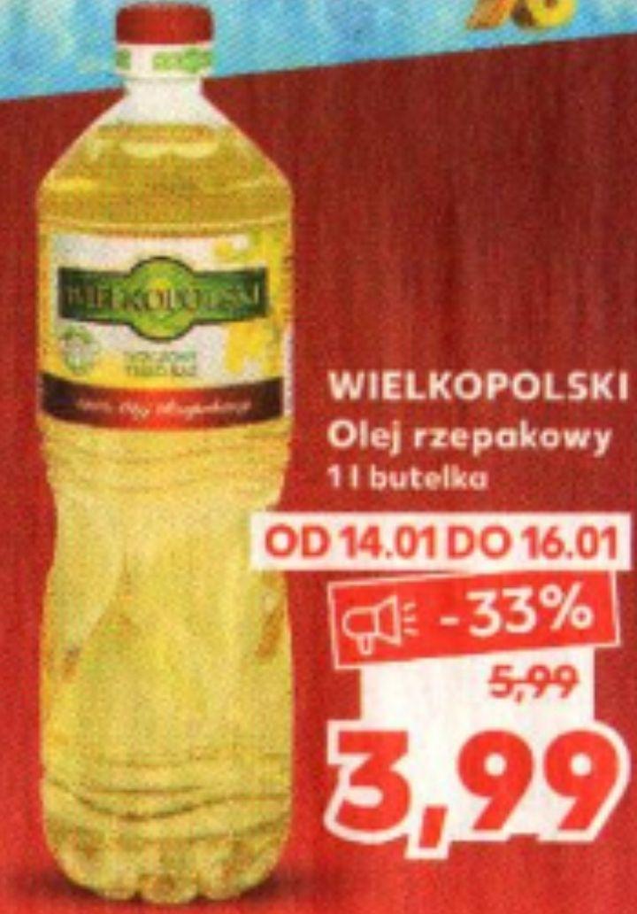 Olej rzepakowy Wielkopolski 1L @ Kaufland