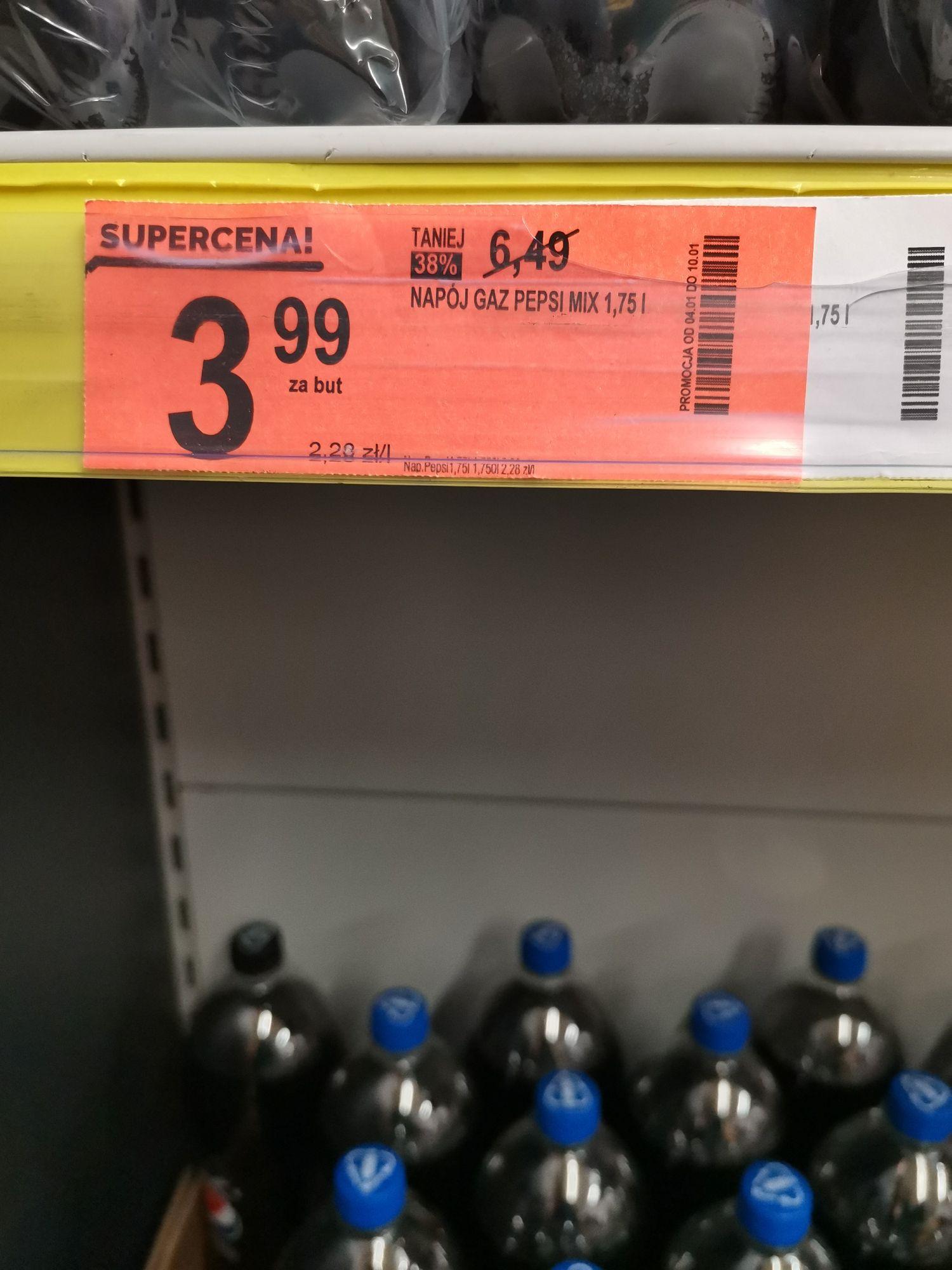 Pepsi 1,75l za 3.99 zł