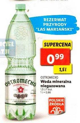 Woda mineralna niegazowana Ostromecko 1,5l @Lidl
