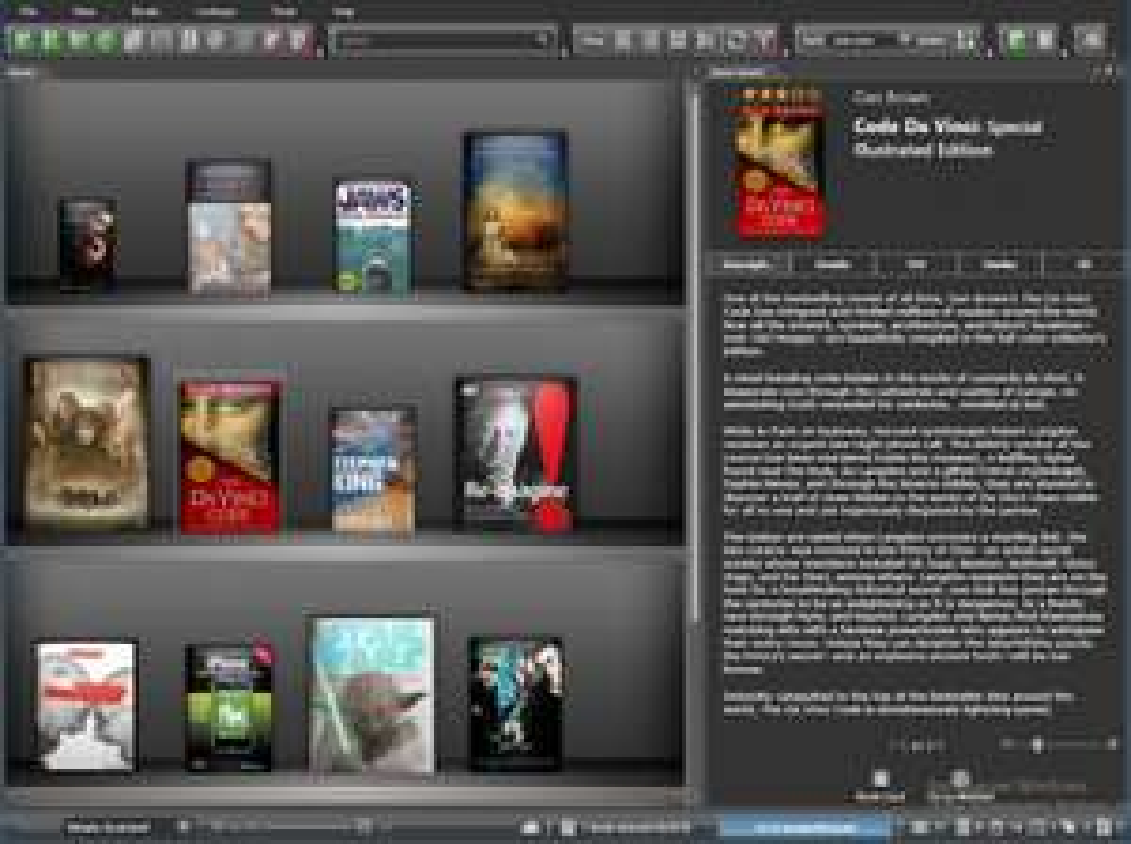 oprogramowanie do zarządzania biblioteką książek elektronicznych.