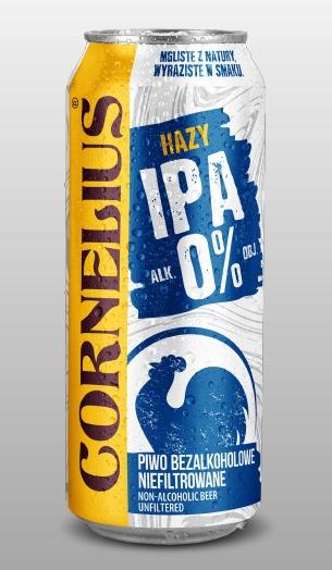 Piwo Cornelius Hazy IPA 0% Dino Bełchatów