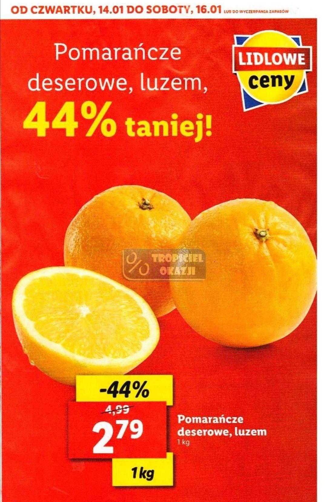 Pomarańcze deserowe 1kg Lidl