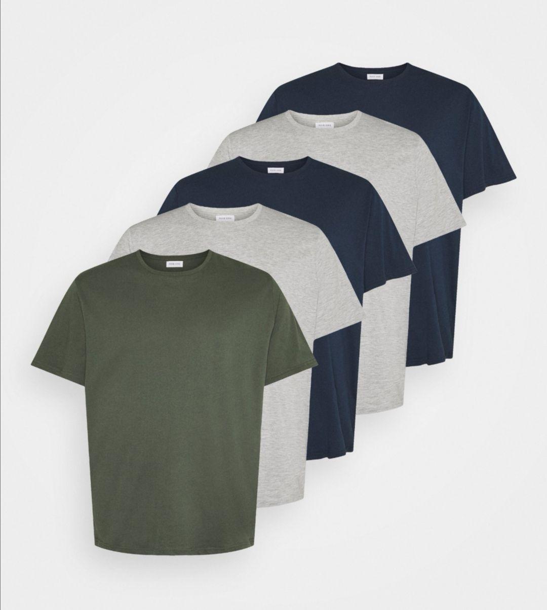 Pier One 5 PACK - T-shirt basic plus size. 100% bawełna.