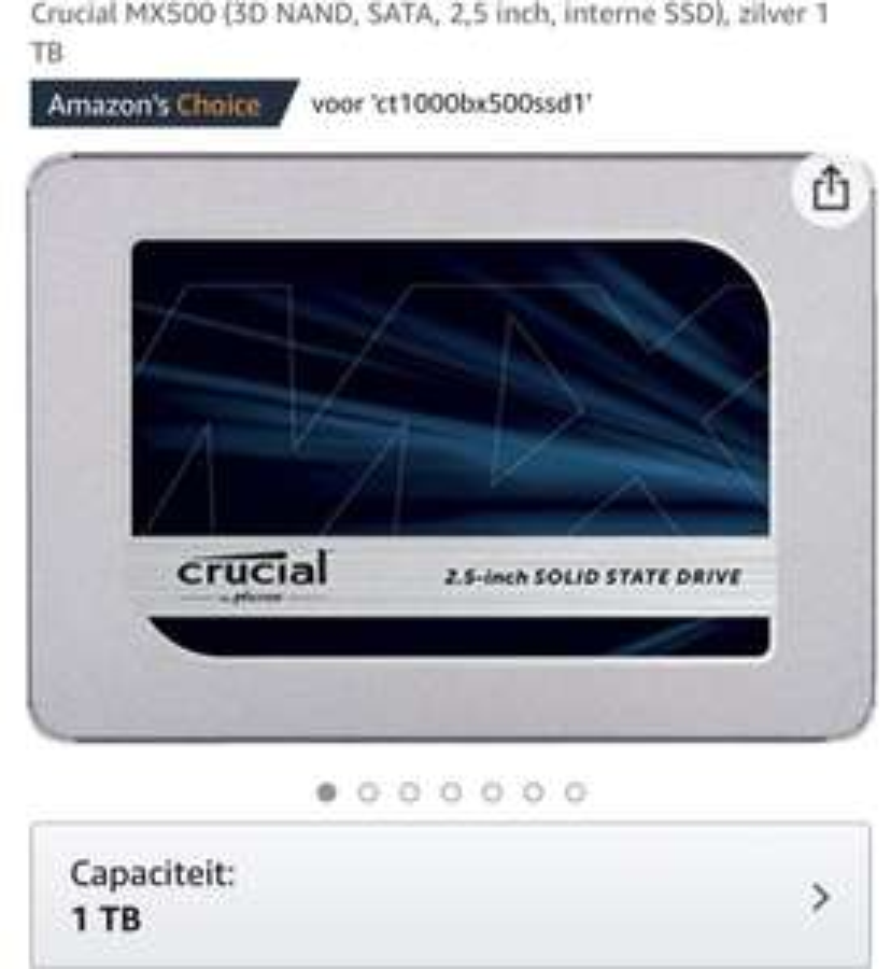 "Dysk Crucial MX500 2,5"" SSD 1TB - Amazon.de"