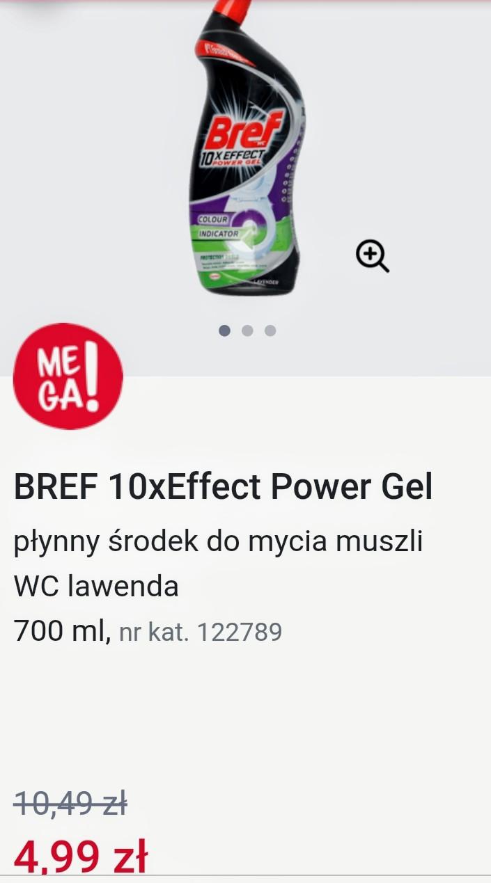 BREF 10xEffect Power Gel płynny środek do mycia muszli WC lawenda 700 ml, sklepy Rossmann