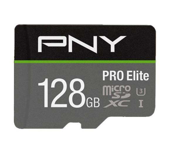 Karta pamięci PNY PRO Elite microSD 128GB 100/90 MB/s U3 V30 A1 + adapter. Dobra cena, dostawa do sklepów za 0 zł