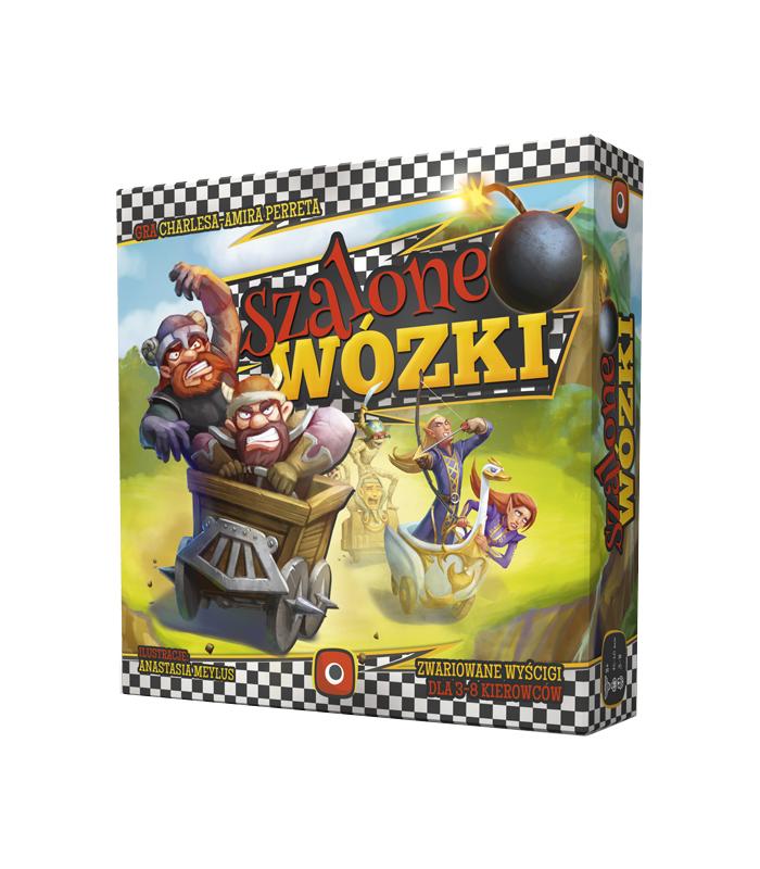 Szalone Wózki - gra planszowa