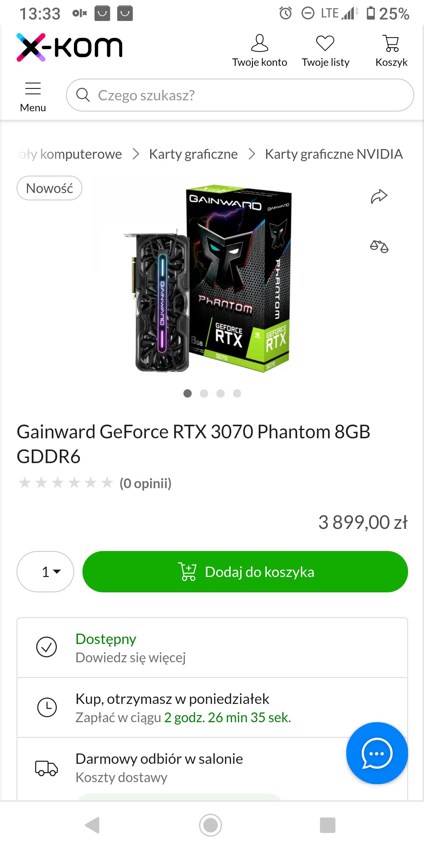 GAINWARD RTX 3070 Phoenix 8GB karta graficzna