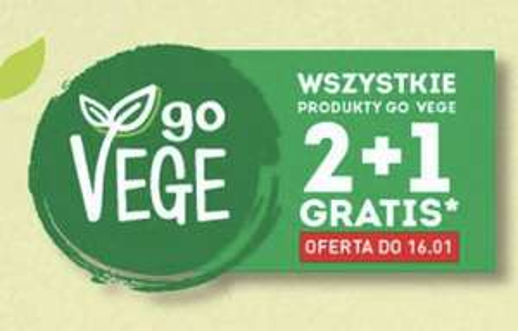 Biedronka produkty goVege 2+1