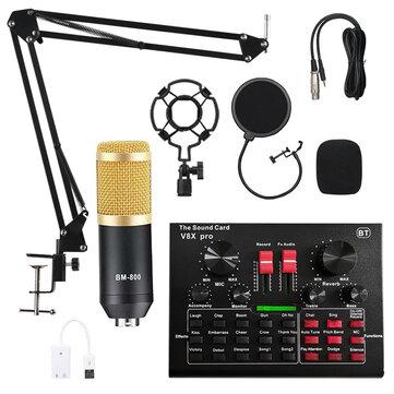 BM800 zestaw mikrofonowy z kartą dźwiękową bluetooth V8X PRO z dostawą z Czech