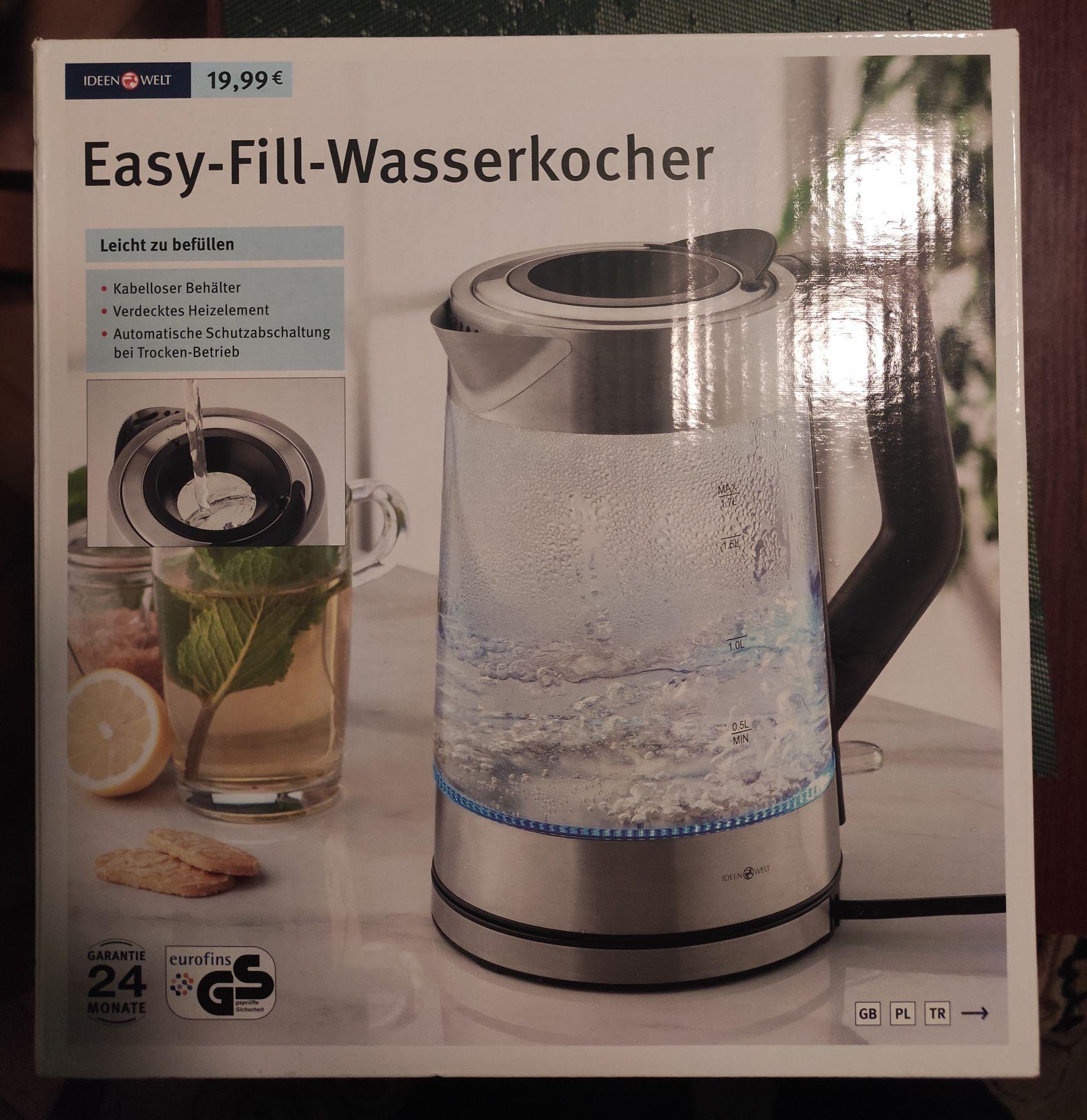 Czajnik elektryczny Easy-Fill-Wasserkocher 1.7l 2200W - Rossmann