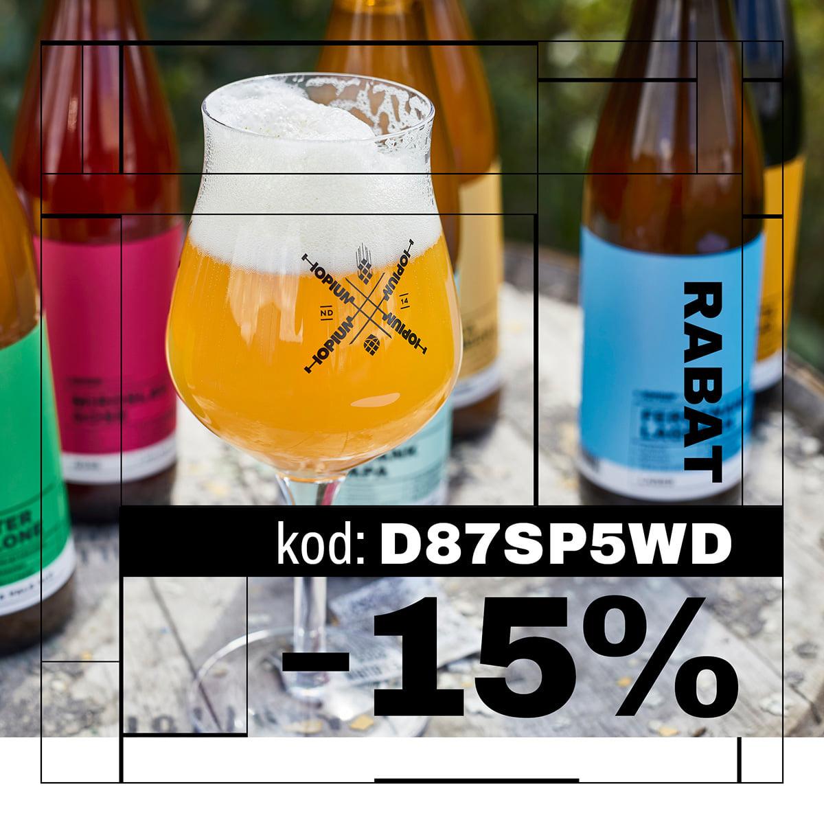 Kod zniżkowy na piwa Hopium 15% w sklepie internetowym
