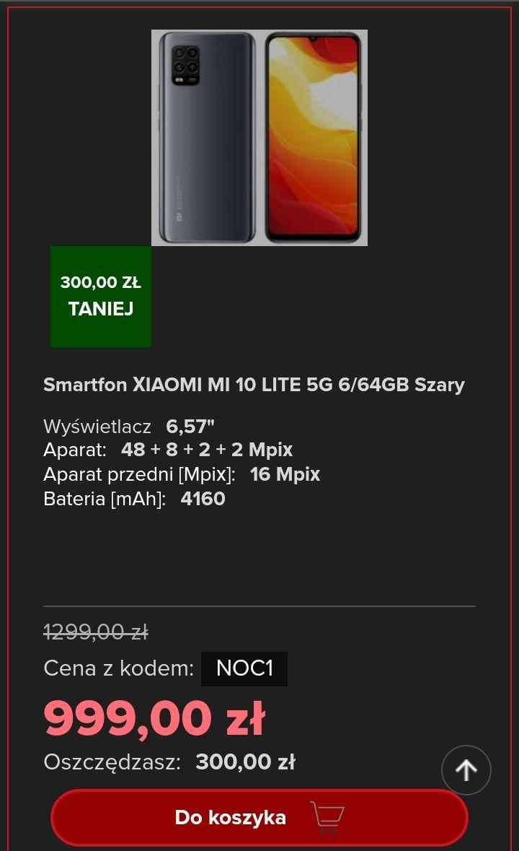 Smartfon XIAOMI MI 10 LITE 5G 6/64GB Szary - lokalnie @ Neonet