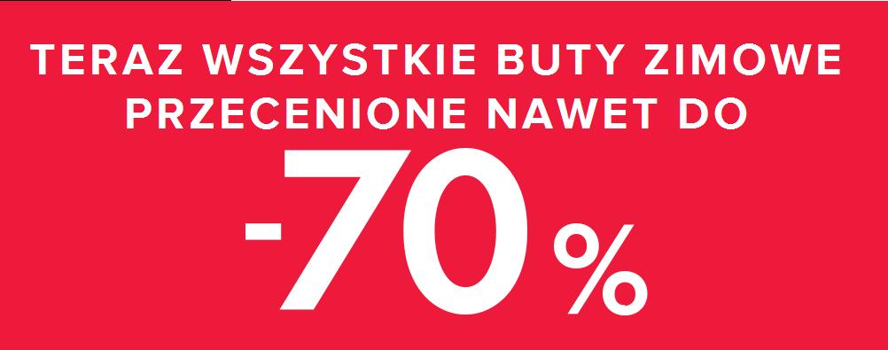 Wyprzedaż do -70% (buty zimowe dziecięce za 20zł ) oraz -30% na nieprzecenione produkty  @ CCC