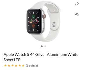 Apple Watch 5 44/Silver Aluminium/White Sport LTE