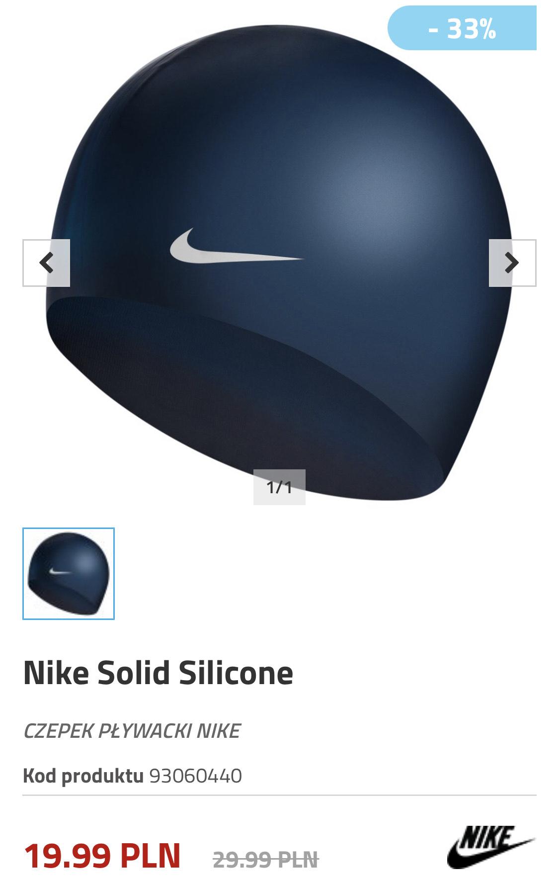 Czepek pływacki Nike Solid Silicone