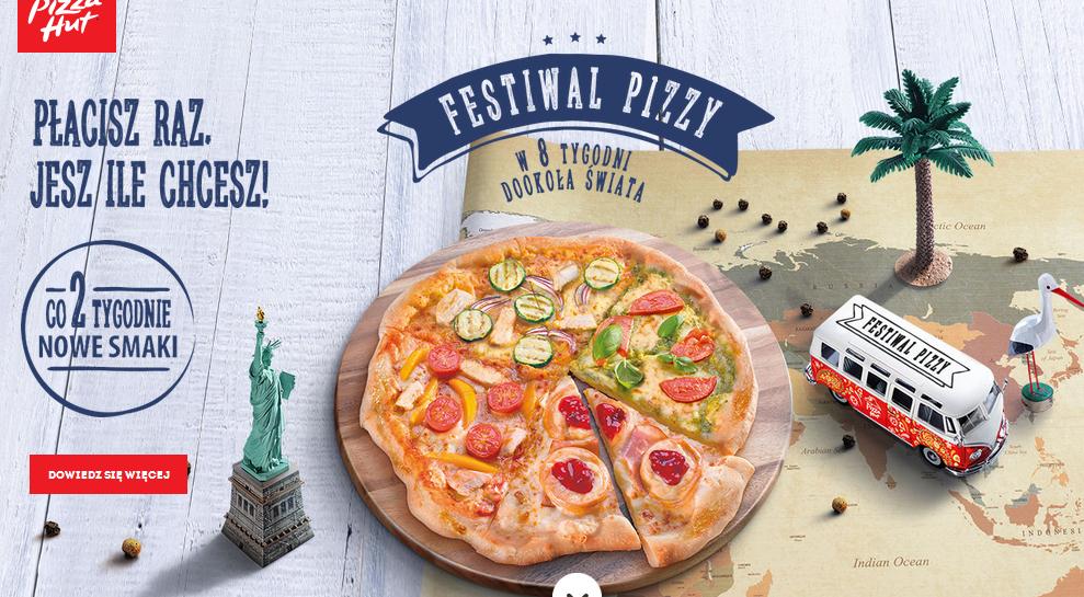 Festiwal pizzy: płacisz 26,95zł i jesz ile chcesz @ Pizza Hut