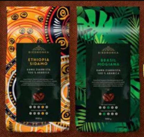 Kawa ziarnista Biedronka Premium Brasil, Ethiopia [2 x 500 g = 1 kg]