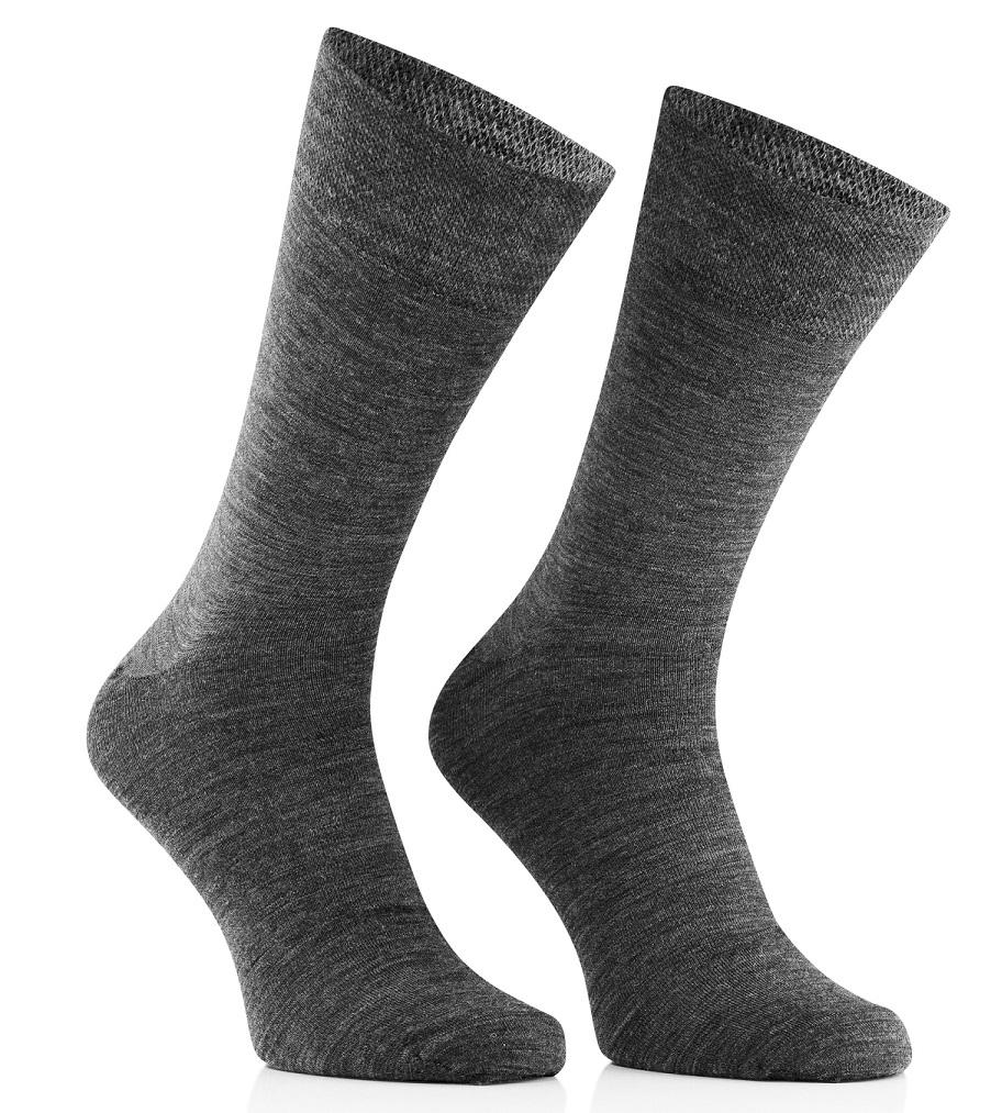Skarpety biznesowe wełniane 45% Merino Wool