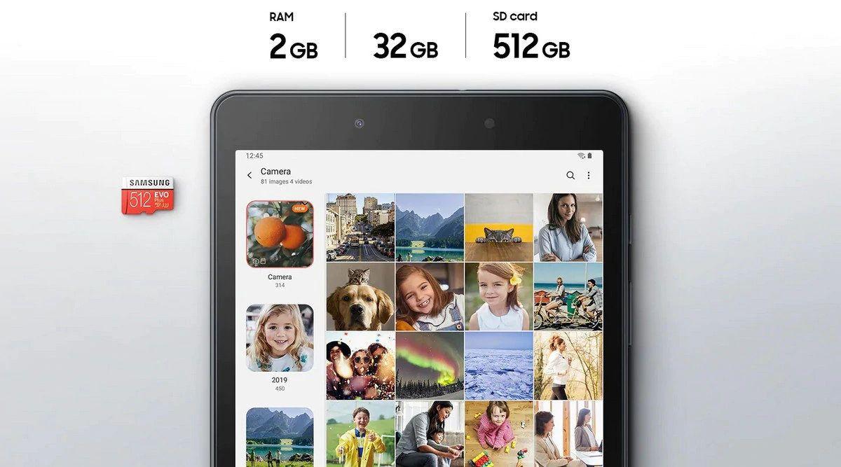 499zł + 1zł: Tablet Samsung Galaxy Tab A 8.0 2019 Wifi T290 + Karta pamięci SAMSUNG EVO Plus (2020) 64GB microSD + Adapter