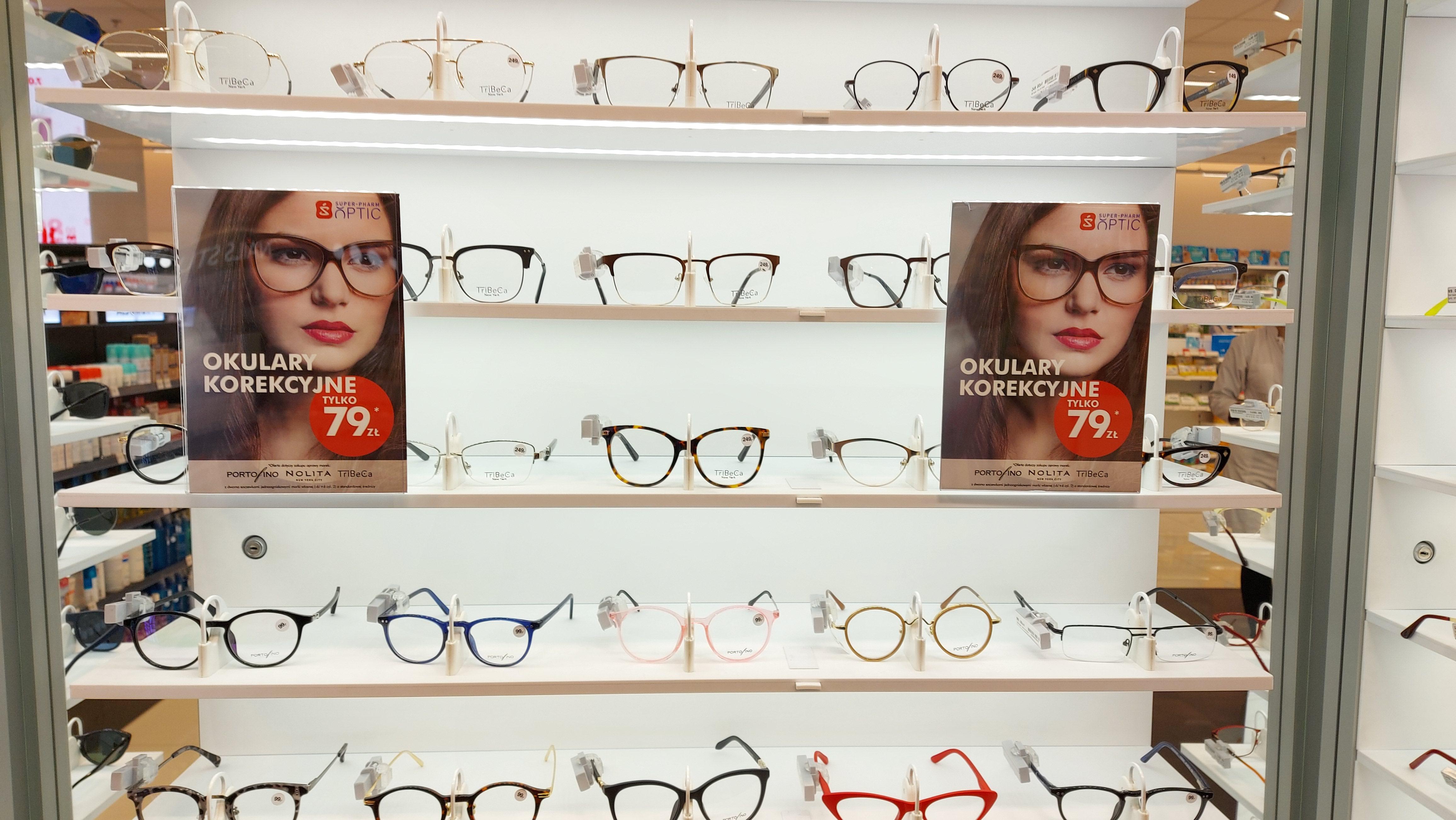 Okulary (oprawki+szkła) od -6 do +6 dioptrii za 79 zł +profesjonalne badanie wzroku za 1 zł 7 miast w Polsce Super-Pharm Optic