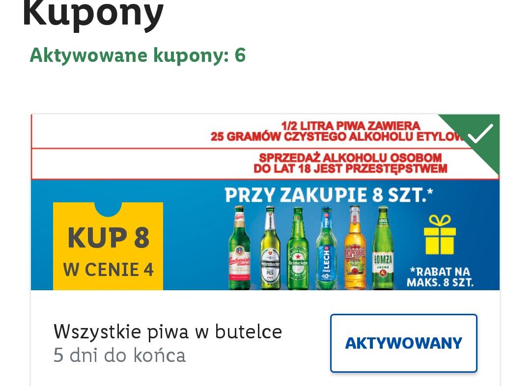 8 piw w cenie 4 (oraz inne kupony) -35% na chusteczki biodegradowalne -40% na tabletki Finish zniżka na parówki zniżka na pomidory