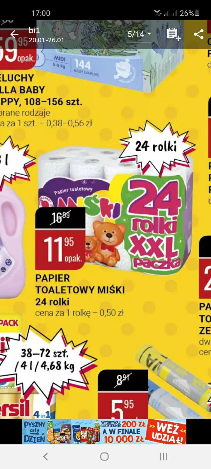 Papier toaletowy 24 rolki