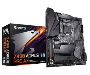 GIGABYTE Z490 AORUS PRO AX - Intel Z490 - Intel LGA1200 socket - DDR4 RAM - ATX