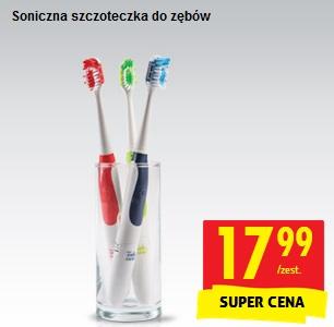 Biedronka: Soniczna szczoteczka do zębów za 17,99 + 2 końcówki