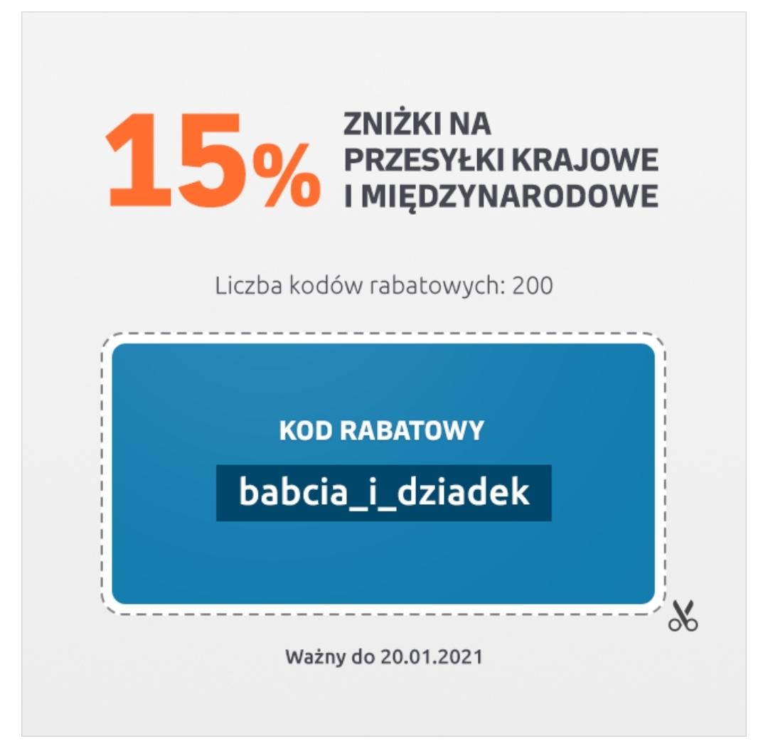 200 kuponów 15% rabatu w Furgonetka.pl na przesyłki krajowe i zagraniczne z kodem