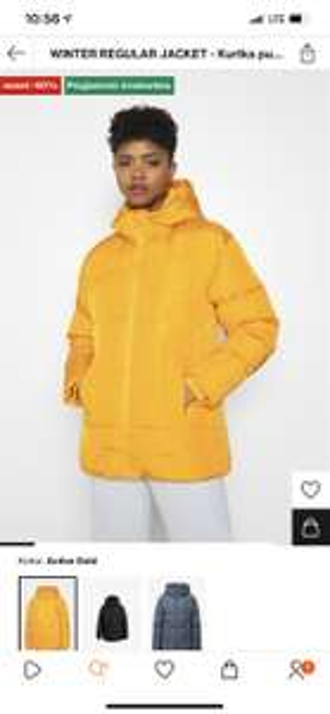 Kurtka puchowa Adidas Winter Regular Jacket - active gold
