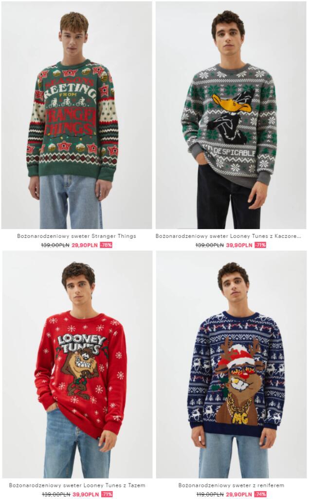 Swetry świąteczne w Pull&Bear - Pogłębienie Wyprzedaży