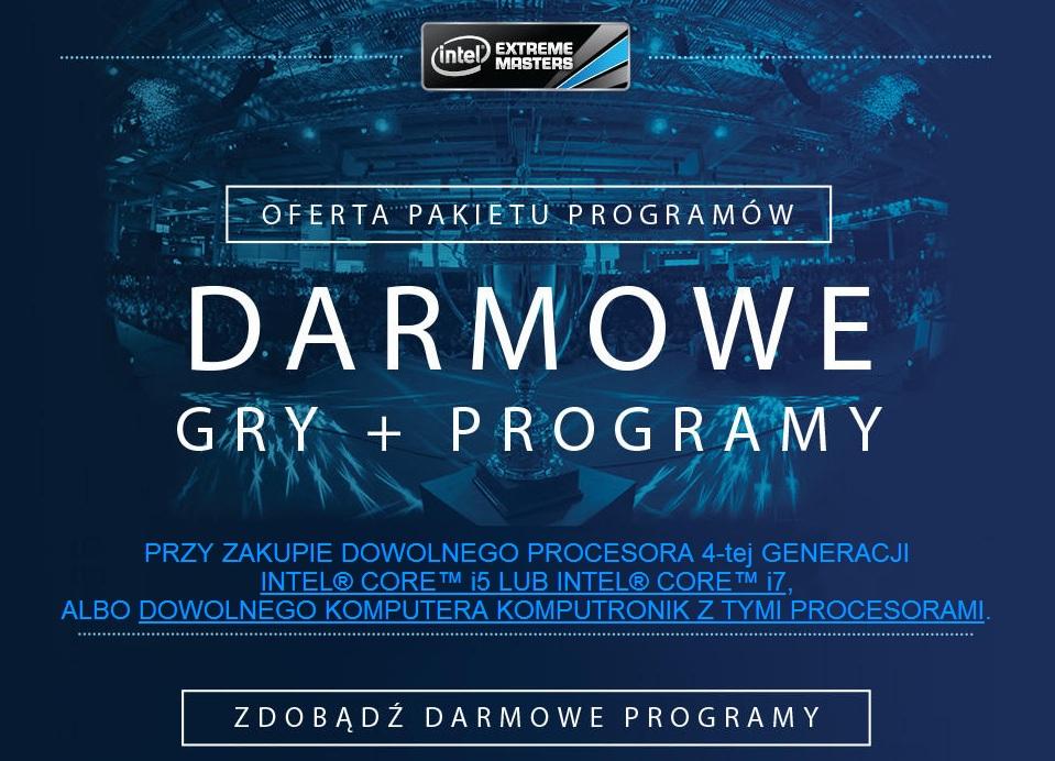 Darmowy pakiet gier i programów przy zakupie procesora Intel i5/i7 lub dowolnego urządzenia z tymi procesorami @ KOMPUTRONIK