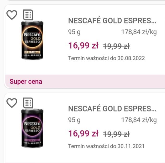 Promocja na kawy Nescafe Gold Espresso i Intense na frisco.pl
